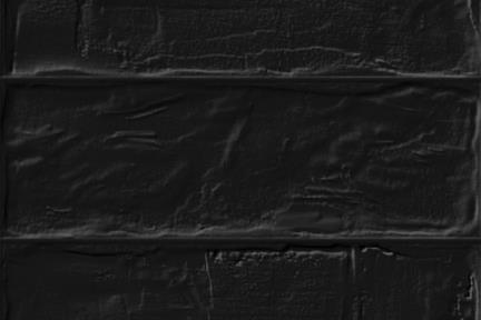 חיפוי קיר בריקים מקרמיקה 1012971. בריק שחור ענתיקה מט.  גודל 11*33