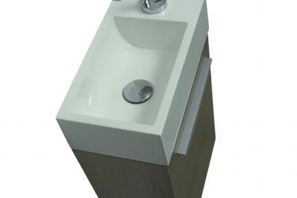 כיור ידיים לחדר השרותים L6400. כיור שירותים אקרילי  גודל: 22*40  גובה: 12