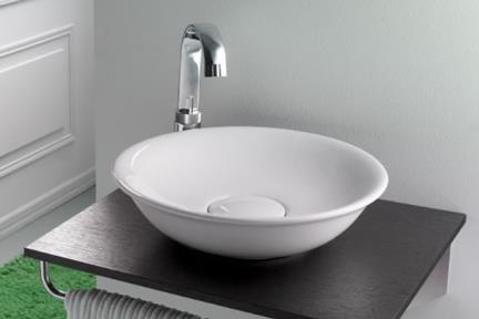 """כיור מונח לחדר אמבטיה B450. כיור קערה מונח.  קוטר: 45 ס""""מ.  גובה: 12  ס""""מ."""