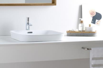 """כיור אמבטיה חצי שולחני B562. כיור מונח חצי בפנים  גודל: 42*56  גובה: 18 ס""""מ"""