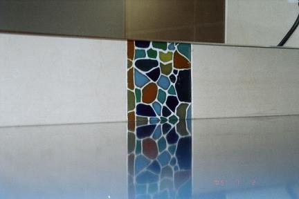 דקור זכוכית. שילוב דקור זכוכית ויטרא'ג
