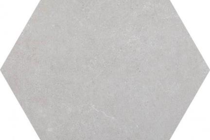 אריחי ריצוף וינטג' סדרת Hexagon 1012954. משושה אפור בהיר.  גודל: 22*25