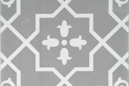 אריחי ריצוף וינטג' סדרת Cordova 1013119. ערבסקה אפור.  גודל: 20*20