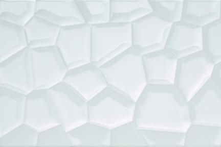 אריח לחיפוי קיר  קרמיקה דמוי פסיפס 1016063. דמוי כוורת לבן מבריק.  גודל: 75*25