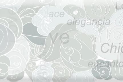 אריחי קרמיקה לאמבטיה C20-14. דקור LOVE אפור.  גודל: 20*10.