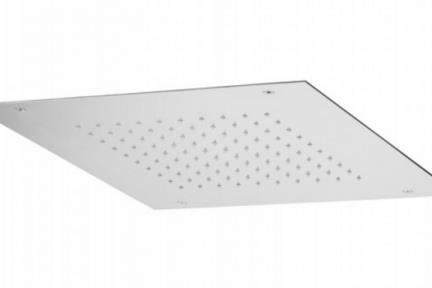 אביזרי אמבט טוש למקלחת של חברת Bongio 888CR4Q. ראש טוש מרובע מהתקרה.  גודל: 40*40