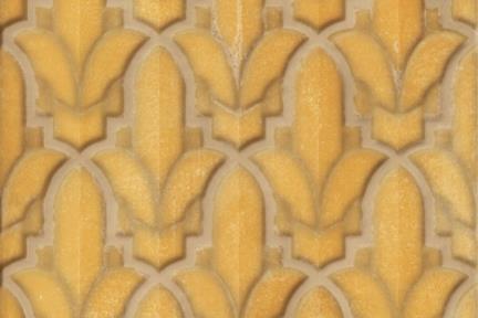 אריחי וינטג' לחיפוי קיר בסגנון עתיק 1001181. חרדל מבריק.  גטדל 15*15.