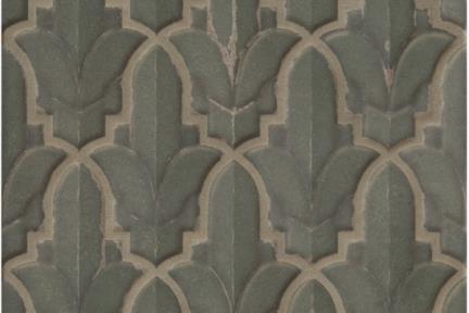 אריחי וינטג' לחיפוי קיר בסגנון עתיק 1001183. ירוק מבריק.  גודל: 15*15.
