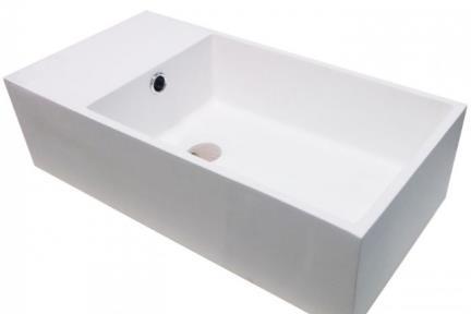 כיור רזינה לאמבטיה L485MT1. כיור שירותים.  עשוי מאבן מלאכותית.  צבע: לבן מט.  גודל:48*24  גובה: 13.5    חסר עד הודעה חדשה  ===============