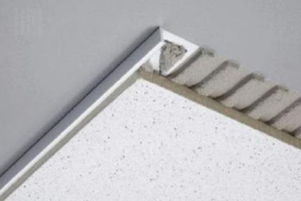 פרופיל  להפרדה PV214. פרופיל PVC לבן פינה.  גודל: 1*250