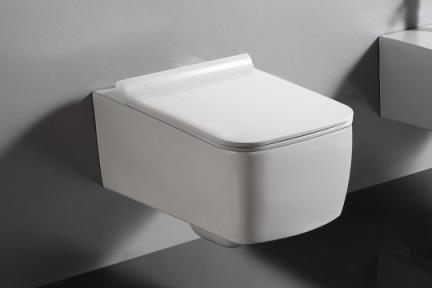 אסלה תלויה FR4607. אסלה תלויה מרובעת ללא מושב  גודל: 56.5*37