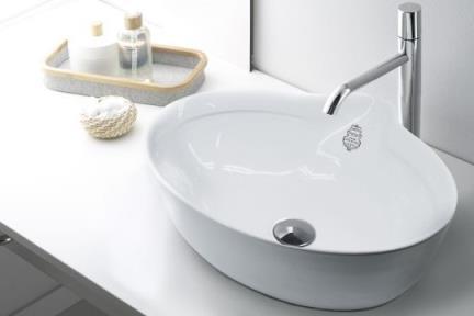 כיור מונח לחדר אמבטיה B500. כיור מונח טיטניק.  גודל: 41*50