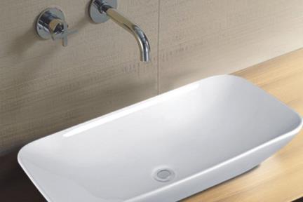 כיור מונח לחדר אמבטיה L704. כיור מונח מלבני.  גודל: 40*70.  גובה: 13.