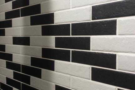חיפוי קיר בריקים מפורצלן 1012963. בריק לבן דמוי אבןגודל: 6*24.5