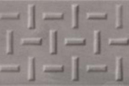 אריח לחיפוי קיר  דמוי טקסטיל 1385. דקור מעורב בטון אפור כהה לקירות.  גודל: 7.5*30