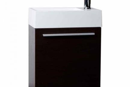 ארונות אמבטיה לאחסון  6460-9. ארון שחור לשירותים + כיור אקרילי.  גודל: 46*26  גובה: 52