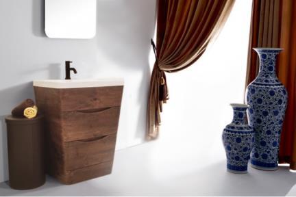 ארונות אמבטיה לאחסון  6651-25. ארון עומד ונגה.  ציפוי PVC  מגירה אחת.  גודל: 65*52  גובה: 79