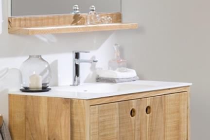 ארונות אמבטיה לאחסון  6080. ארון עץ טבעי ללא כיור.  גודל: 79*45  גובה: 30