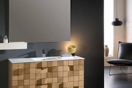 ארונות אמבטיה לאחסון  6108. ארון עץ קוביות ללא כיור.  גודל: 46*108  גובה: 48