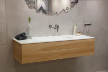 ארונות אמבטיה לאחסון  6140. ארון עץ תלוי ללא כיור  גודל: 49*140  גובה: 33