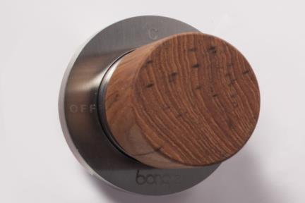דגם 69524. אינטרפוץ 3 דרך נירוסטה  ידית עץ טיק.
