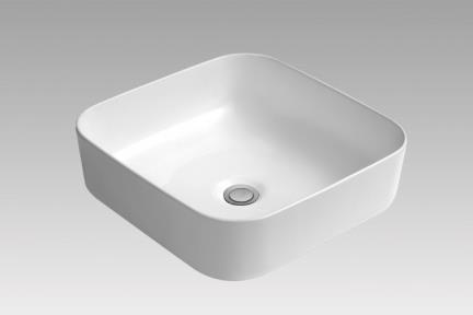 כיור מונח לחדר אמבטיה L395. כיור מונח מרובע דק.  גודל:39.5*39.5.  גובה 13.5.