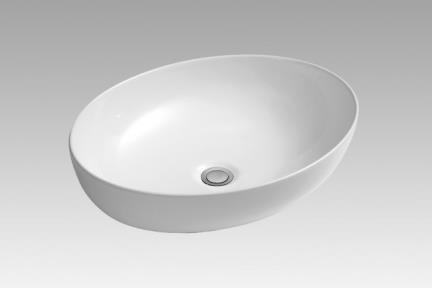כיור מונח לחדר אמבטיה L511. כיור מונח אובלי דק  גודל: 51*40.  גובה: 13.