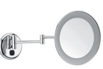 """אביזרים לאמבטיה שונים מבית Bongio 4042CR0M. מראה מתכווננת21 - ס""""מ"""