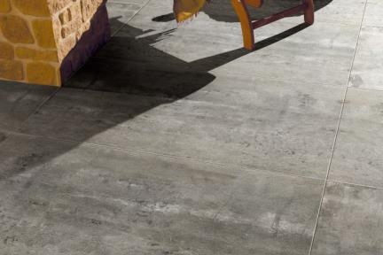 אריחי ריצוף  פורצלן דמוי בטון 1001576. פורצלן בטון פחם.  גודל: 90*90.