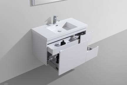 ארונות אמבטיה לאחסון  6112. ארון אמטיה לבן מגירה גדולה, 2 מגירות צד.   מגיע עם כיור אקרילי L6112.  גודל: 100*48  גובה: 50