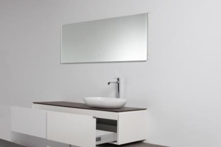 ארונות אמבטיה לאחסון  6150. ארון + משטח עץ ללא כיור.  גודל: 150*50