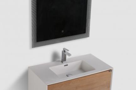 כיור אמבטיה אקרילי L6903. כיור אקרילי לארון 6903-12  גודל: 90*48