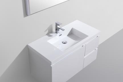 כיור אמבטיה אקרילי L6112. כיור אקרילי לארון 6112  גודל: 48*100