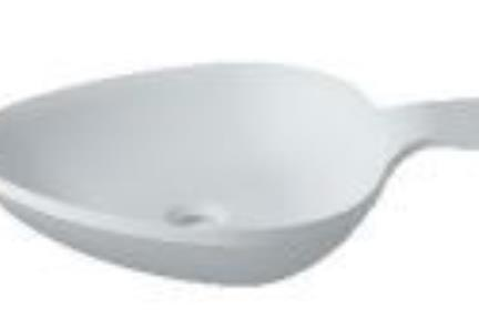 כיור מונח לחדר אמבטיה L624. כיור מונח מחבת ביצה.  אבן מלאכותית - לבן מט.  גודל: 44*60  גובה: 13.5