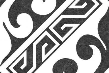 אריחי ריצוף וינטג' סדרת Catalonia 1011600. פורצלן וינטג' שחור-לבן  גודל: 25*25