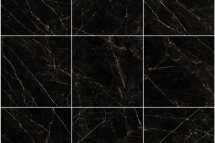 אריחים לריצוף  גרניט פורצלן דמוי שיש 1013238. פורצלן דמוי שיש שחור.  חברת המותג האיטלקית VERSACE.  גודל: 78*78