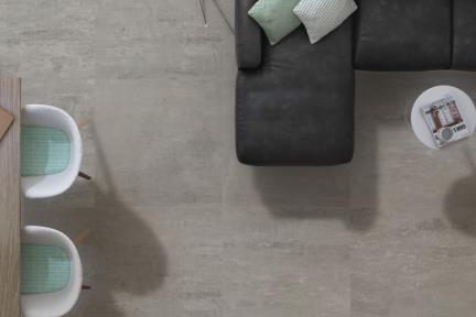 אריחי ריצוף  פורצלן דמוי בטון 1011730. פורצלן אפור כהה מעונן.  גודל: 75*75