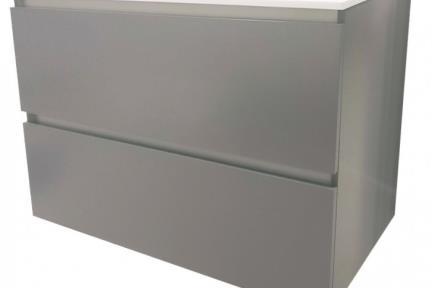 ארונות אמבטיה לאחסון  6874-5. ארון 2 מגירוות אפור ללא כיור.  כיורים תואמים: B6874, L6874  גודל: 80*46