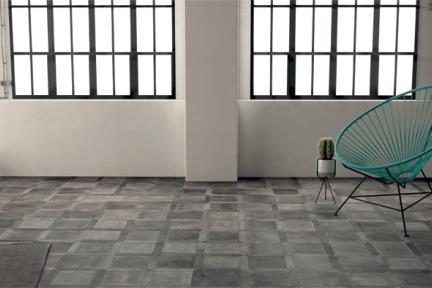 אריחי ריצוף  פורצלן דמוי בטון 1001872. פורצלן משושה חץ בטון פחם תוצרת WOW  ספרד.  כל אריח שונה מהשני.  גודל: 4*22.6