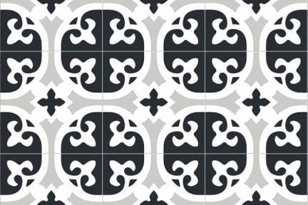 דגם 1011925. פורצלן גאומטרי אפור שחור.  נגד החלקה R10.  גודל:20.5*20.5