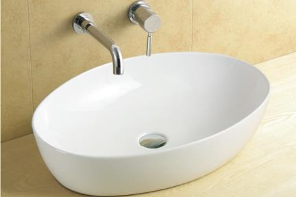 כיור מונח לחדר אמבטיה L620. כיור אליפסי מונח.  גודל: 42*62  גובה: 14