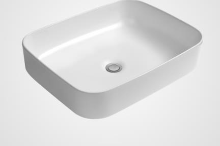 כיור מונח לחדר אמבטיה L510. כיור מונח דק.  גודל: 41*50  גובה: 13