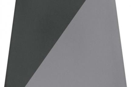 דגם 1011983. קרמיקה פרמידה אפור-שחור לקיר.  גודל: 12.5*12.5