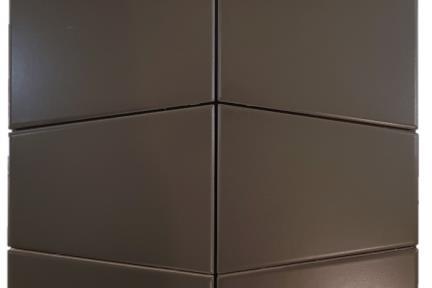 דגם 1011982. אריח פרמידה שחור מט לקיר.  גודל: 12.5*15