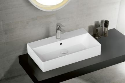 כיור מונח לחדר אמבטיה B705. כיור מונח עם חור לברז מהכיור.  גודל: 70*42  גובה: 13.5