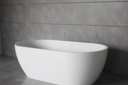 אמבטיה פרי סטנדינג BT12MT. אמבטיה אבן מלאכותית לבן מט  גודל: 80*160  גובה: 54+