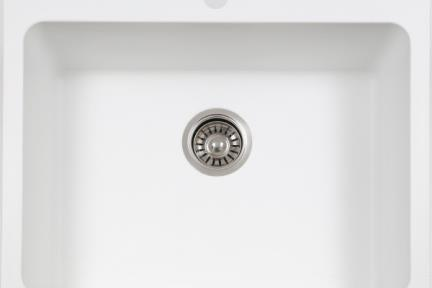כיור מטבח מסיליקרון SL6150. כיור בודד בינוני למטבח.  גודל: 61*50