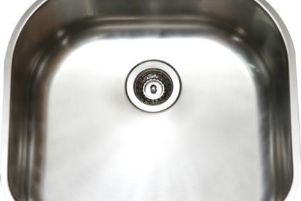 כיור למטבח עשוי נירוסטה NR5651. כיור נירוסטה מעוגל למטבח.  גודל: 56*51