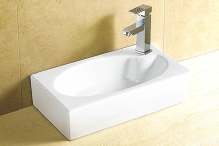 כיור מונח לחדר אמבטיה L4501. כיור שירותים.  גודל: 25*46  גובה: 14.5