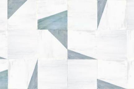 אריחי ריצוף וינטג' סדרת Cordova 972194. פורצלן מעורב חלק וגאומטרי מכחול תכלת תוצרת CERLAT ספרד. Size: 22.5*22.5